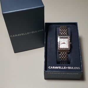 NWT Caravelle by BULOVA Watch with crytsal